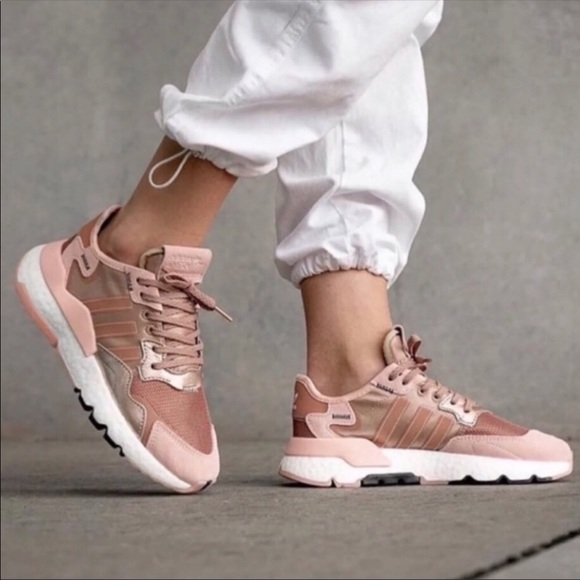 Nwt Adidas Nite Jogger Rose Gold Size 7